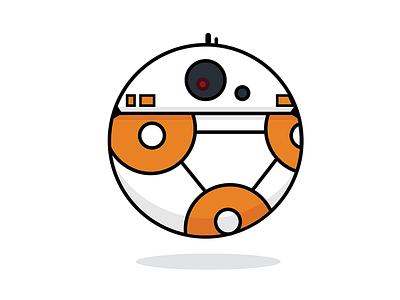 Round BB-8 star wars roll robot round