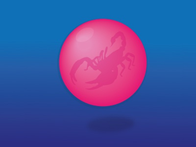 Scorpion bubblegum circle shape animal round bubblegum scorpion