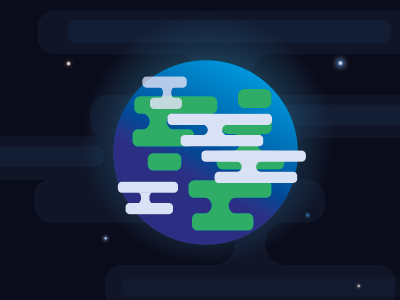 Planet: Earth vector illustrator round earth planet