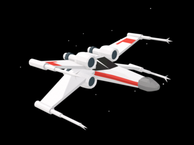 Low Poly X-Wing googleblocks vr 3d spaceship starwars xwing low poly