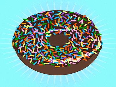 Pregnancy craving #1: chocolate donut donut chocolate rainbow sprinkles food texture