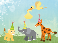 Baby animal party