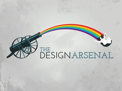 Design Arsenal Logo rainbow cat logo typography texture