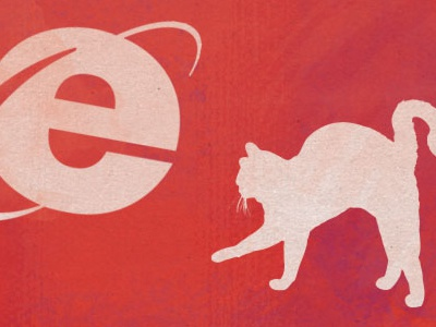 Omg IE! ~Illustration for IE article texture ie cat scary illustration