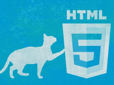 <3 html5! ~Illustration for design arsenal article html5 texture cat