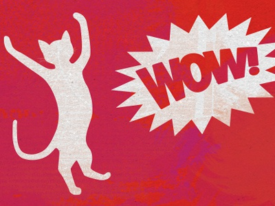 It's missing the wow factor illustration texture cat wow
