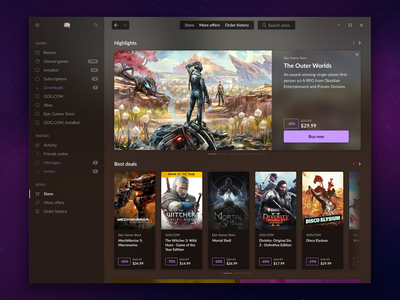 GOG GALAXY STORE - Front page.png