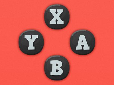 Game UI Buttons - Nintendo Switch ns nintendo switch nintendo ui hud game ui gamepad game art cartoon button