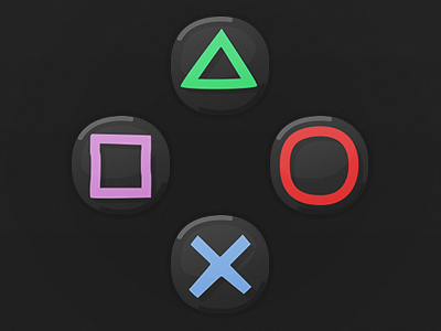 Game UI Buttons - Playstation 4 ps4 playstation4 playstation sony playstation sony game art hud game ui cartoon ui button