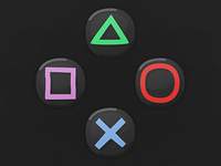 Game UI Buttons - Playstation 4