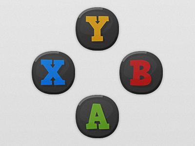 Game UI Buttons - Xbox One microsoft xbox one xboxone xbox guide hud gui cartoon game art game ui button