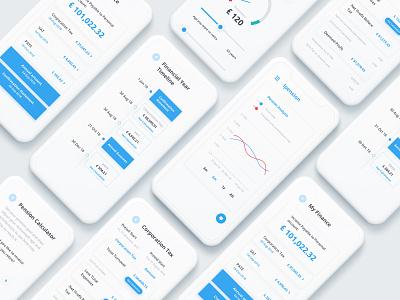 Financial App in progress graph minimal mobile app ux ui app dashboard app concept budgeting calculator pension finance financial app