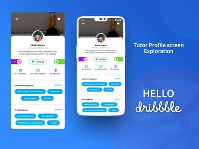 Tutor app profile