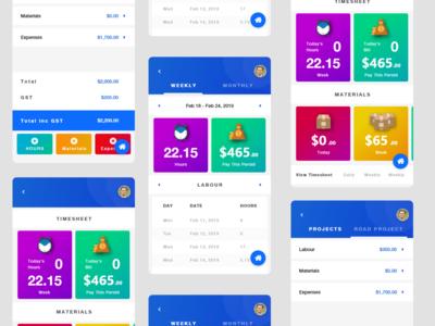 Timesheet app concept