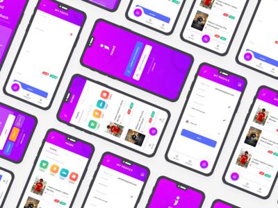 iNeed app UI design Project
