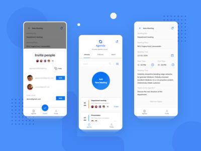 Agenda app UI design in progress