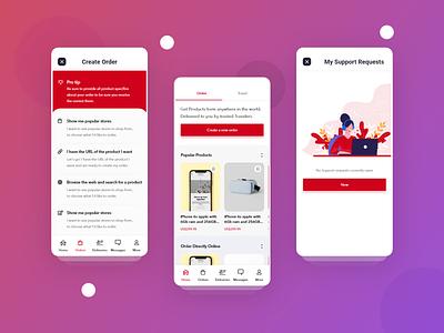Grabr app UI in progress 2019 trends trendy typography app ux ui app design design ui design ux design travel order illustraion support shopping