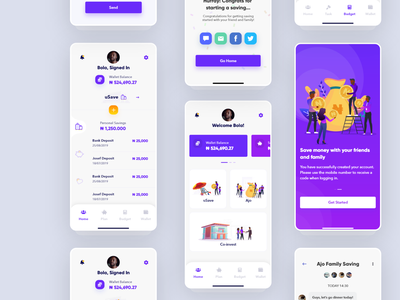 Money-Saving App UI in Progress money management money app wallet plant budget transaction saving minimal illustration typography icon ux app ui ux design ui design app design