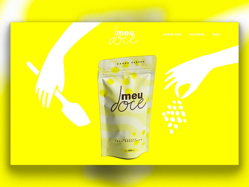 meu doce - packaging and website illustrations (WIP) ui digital illustration illustration website illustration health vegan food vegan cocoa brand cocoa design web web design