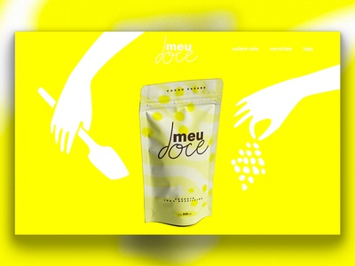 meu doce - packaging and website illustrations (WIP)