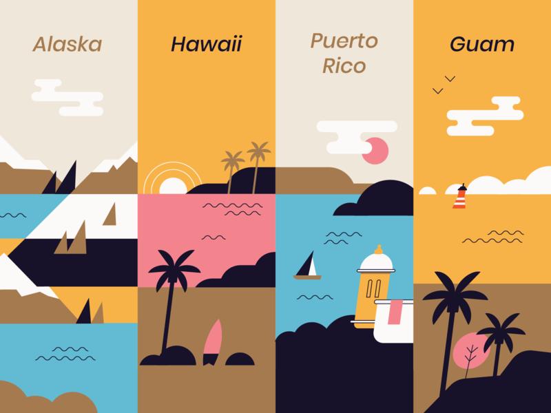 Travel landscape sea map
