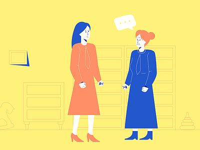 Conversation young old skirt conversation talk women woman