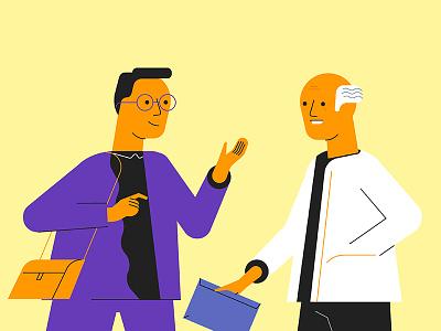 Professors men man character people professor