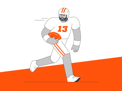 American Football 13 football illustration people character man guy