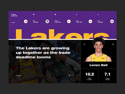 LA Lakers Concept lonzo ball nba lakers