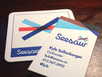 Seesaw Business Cards and Coaster