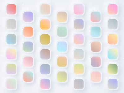 Freebie Gradient Set 1 color cool palette pastel colors freebies creativity two color gradient gradient color palette freebie