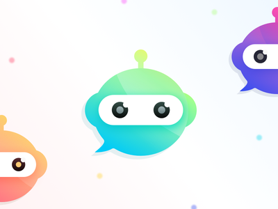 Chatterbot Icon for Quovantis irobot chat bubble quovantis chatterbot bot chat