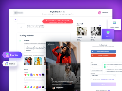 Onboarding UI checkout library dashboard purple ui social platform brands promotions photography creative design clean ui onboarding