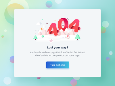 Error 404 typography quovantis fresh colors light theme number vector illustration ui creativity design error 404 error 404
