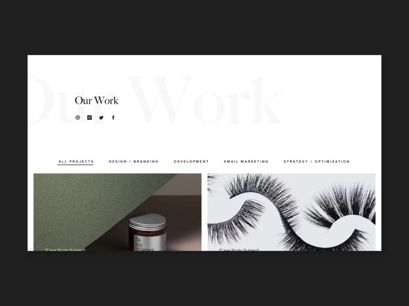 Working on a new portfolio page! 🙌