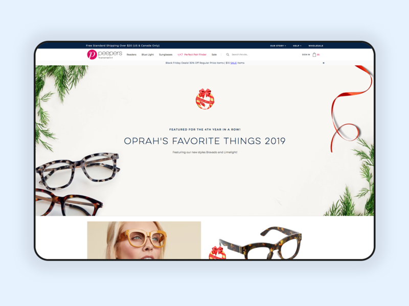Landing Page for the Holidays 🎄