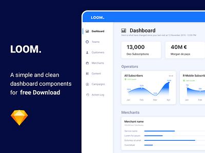 Loom Dashboard vector flat design app ux ui sketch mobile application mobile app