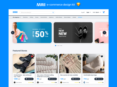 Mall sale kit landingpage mall e-comerce flat app design ux ui sketch