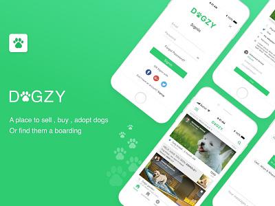 Dogzy App mobile application ios iphone design app ui ux sketch mobile app
