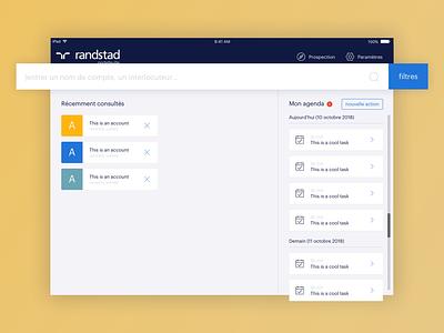 Homepage ui  ux design ipad home app ui dashboard