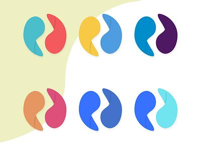 Double P logos colors round identity graphic design logo
