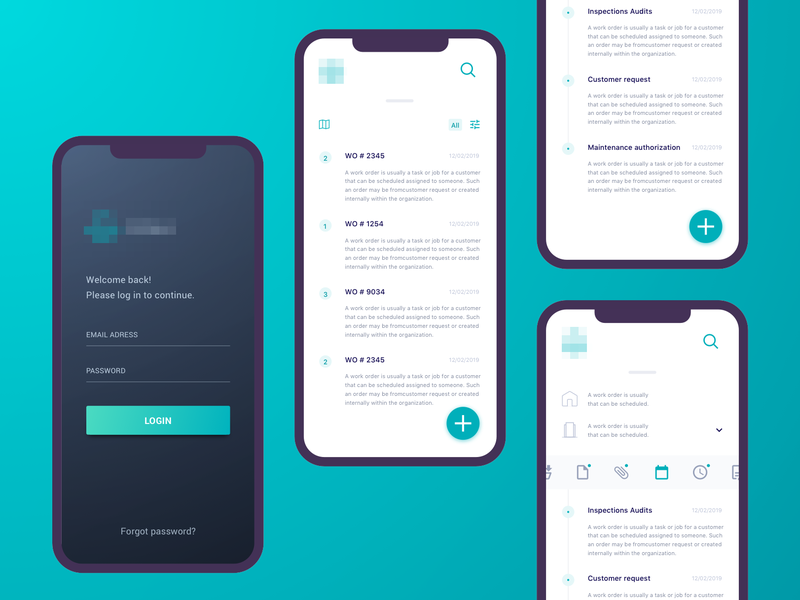 Operations management app app ui