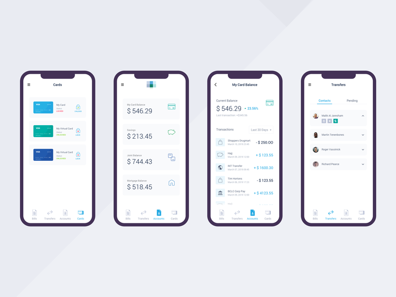 Financial app ui app