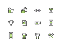 Health & Fitness Icon Set