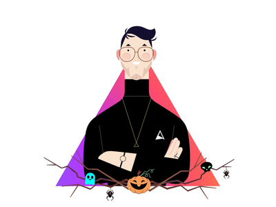 My Halloween Email Signature emailsignature illustration character animation character animagic studios 2d after effects motion design mograph animation