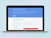 Design of Success Story & Apply Now