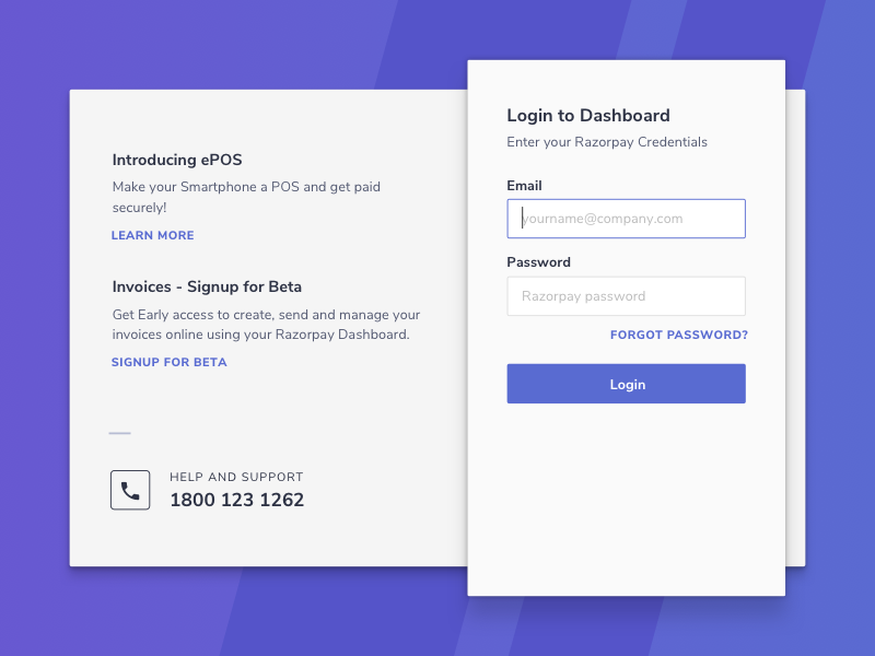 Signup form for dribbble