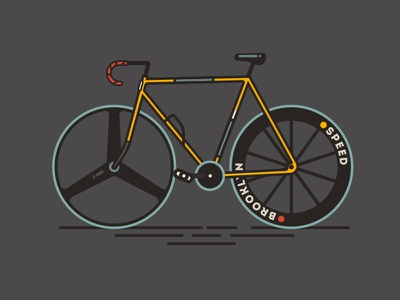 Fixie. Bicycle line illustration bicycle flat fixie design