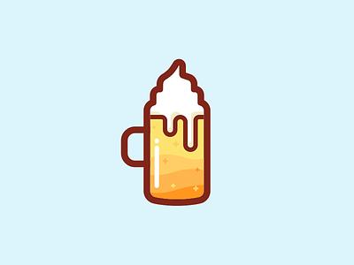 Beer logo illustrations icon