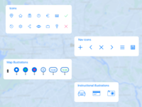Icon set / driverless car app